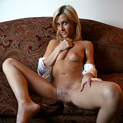 Nap Time - Blonde Hair, Shaved, Naked Girl