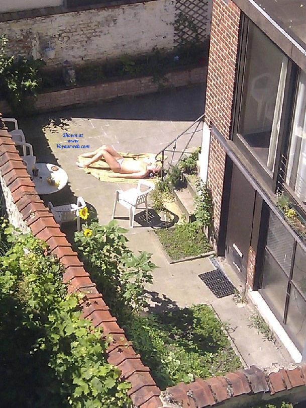 Nude neighbor girl sunbathing sorry