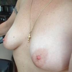 Medium tits of my girlfriend - Ginagirl