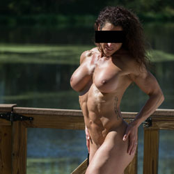 Nude On A Public Dock! - Nude Girls, Big Tits, Outdoors