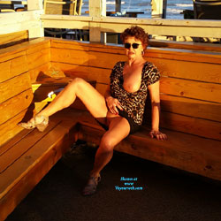Exposing Myself At Padre Island - Big Tits, Brunette, Mature, Outdoors, Amateur