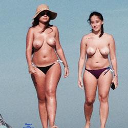 A Couple Of More Hotties On Gunnison - Topless Girls, Big Tits, Brunette, Outdoors, Beach Voyeur