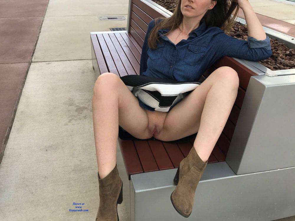 Huge tits shopping