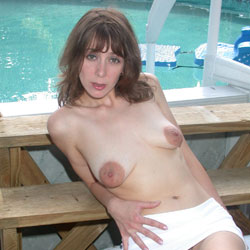 Puffy Nippled Photo Shoot - Brunette Hair, Hairy Bush, Nude Outdoors, Naked Girl, Wife/Wives, Amateur