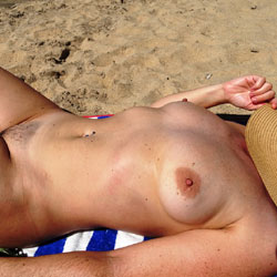 Sunbathing In Spring - Nude Girls, Beach, Outdoors, Bush Or Hairy, Amateur