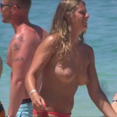 Tennis At The Beach - Topless Girls, Outdoors, Beach Voyeur