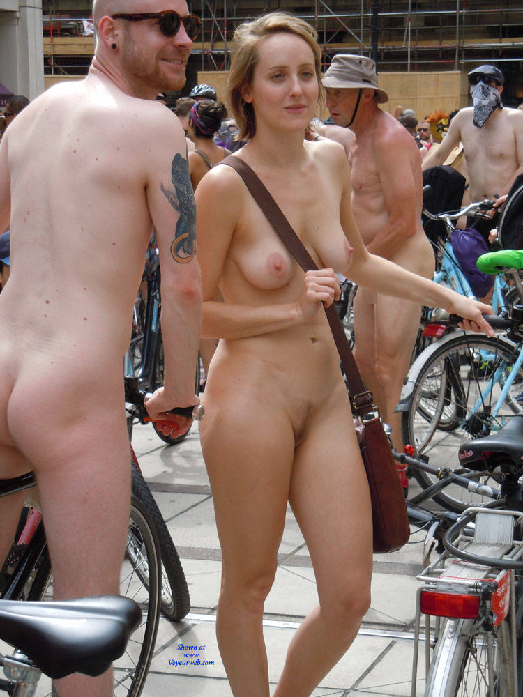 Naked cycle ride in london