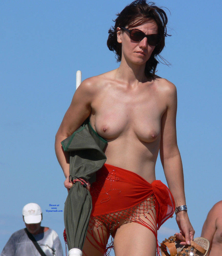 Pic #2 Warm Summer - Nude Girls, Big Tits, Brunette, Outdoors, Beach Voyeur
