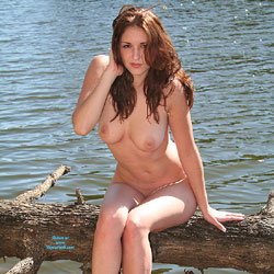 Riverside Tree - Nude Girls, Big Tits, Brunette, Outdoors, Nature, Firm Ass