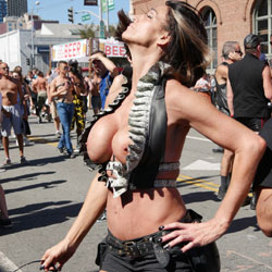 Folsom Street Fair Part 2 - Big Tits, Public Exhibitionist, Outdoors