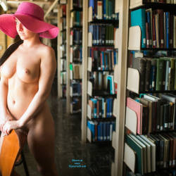 Pic #7 Spring Break.. In A Library - Nude Girls, Big Tits, Public Exhibitionist, Public Place