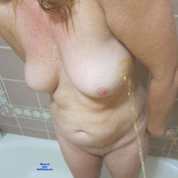 Random Shots Peeing On Mrs C - Nude Wives, Big Tits, Amateur