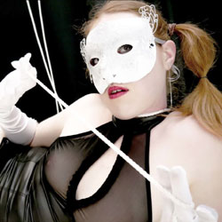 Masked Little French Redhead With Rope - Redhead, Amateur