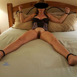 Blindfolded, Tied To Bed And Ready To Be Fucked - Wives In Lingerie, Bush Or Hairy, Amateur