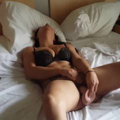 Trying My New Toy - Big Tits, Brunette, Lingerie, Masturbation, Toys, Amateur