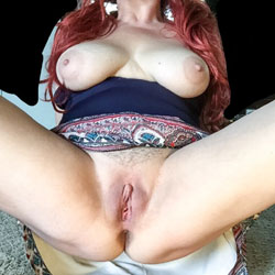 Spread - Big Tits, Shaved, Amateur, Redhead