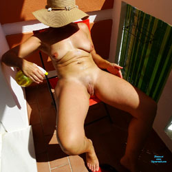 Water Spray - Nude Amateurs, Big Tits, Outdoors, Shaved