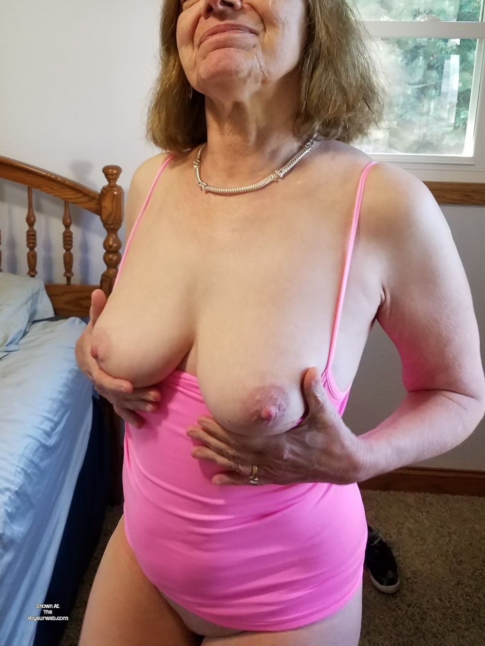 Pic #1 My medium tits - Sexy Red