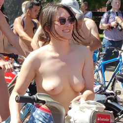 Nude Bike Ride London 2017 - Topless Girls, Big Tits, Outdoors, Public Place