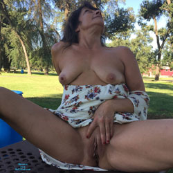 Angel Goes Public - Big Tits, Brunette, Outdoors, Shaved, Amateur