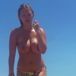 Spain June - Nude Girls, Big Tits, Outdoors, Beach Voyeur