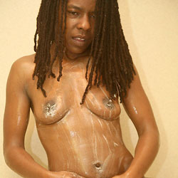 Clean Body - Nude Girls, Ebony, Shaved, Wet Tits