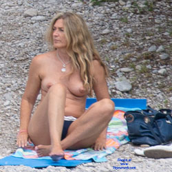 Germany And Spain Beaches - Nude Girls, Big Tits, Brunette, Outdoors, Beach Voyeur