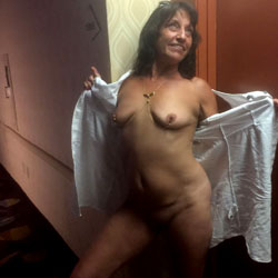 Angel In Public - Big Tits, Brunette, Public Exhibitionist, Flashing, Public Place, Shaved, Amateur