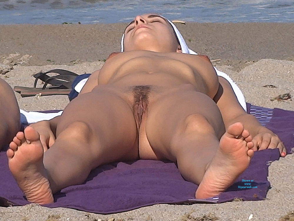Pic #8 See Through And Something More - Nude Girls, Big Tits, Brunette, Outdoors, Bush Or Hairy, Beach Voyeur