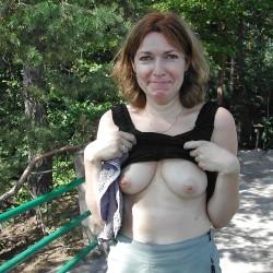 Medium tits of my girlfriend - Gail G.
