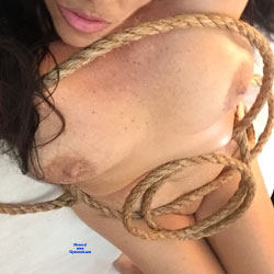 Cattivo Plays Cowgirl With Her Rope - Big Tits, Amateur