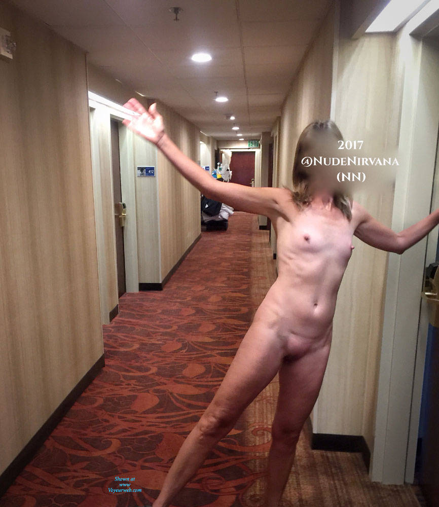 Pic #3 Hotel Hallway Surprise - Nude Wives, Public Exhibitionist, Flashing, Public Place, Amateur, Shaved