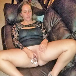 Dildo Fucking On Couch - Blonde Hair, Masturbation, No Panties, Shaved Pussy, Hot Girl, Sexy Ass, Sexy Body, Sexy Face, Sexy Feet, Sexy Figure, Sexy Girl, Sexy Legs, Sexy Woman, Toys