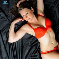 My Red Bra - Brunette, Lingerie, Amateur