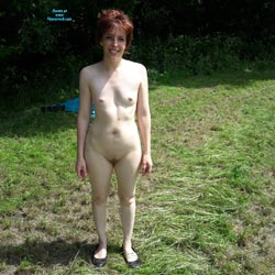 Again Naked Outside - Nude Girls, Outdoors, Redhead, Small Tits, Shaved, Amateur
