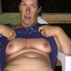 Medium tits of my wife - Caro x