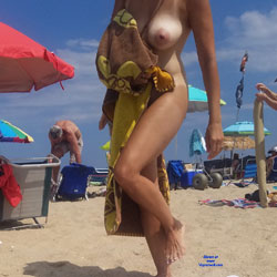 First Time At Nude Beach - Nude Girls, Beach, Big Tits, Outdoors, Amateur