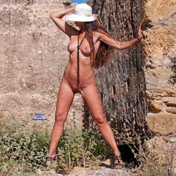 Naked At A Ruin In Spain - Nude Amateurs, Big Tits, Outdoors, Shaved