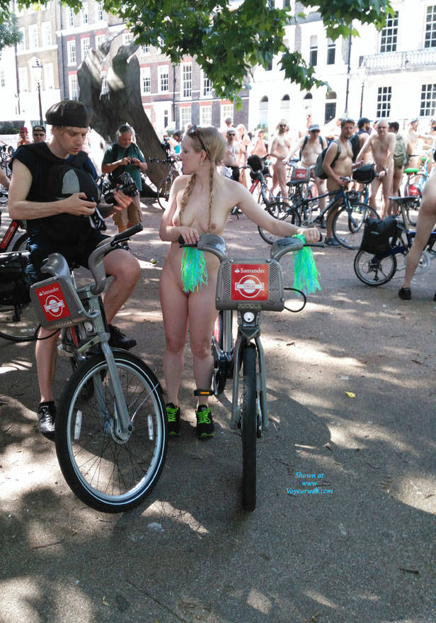 Pic #3 London Naked Bike Ride 2017 Part Two - Nude Girls, Big Tits, Outdoors, Public Place, Shaved