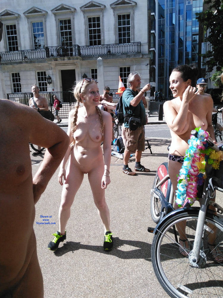 Pic #6 London Naked Bike Ride 2017 Part Two - Nude Girls, Big Tits, Outdoors, Public Place, Shaved