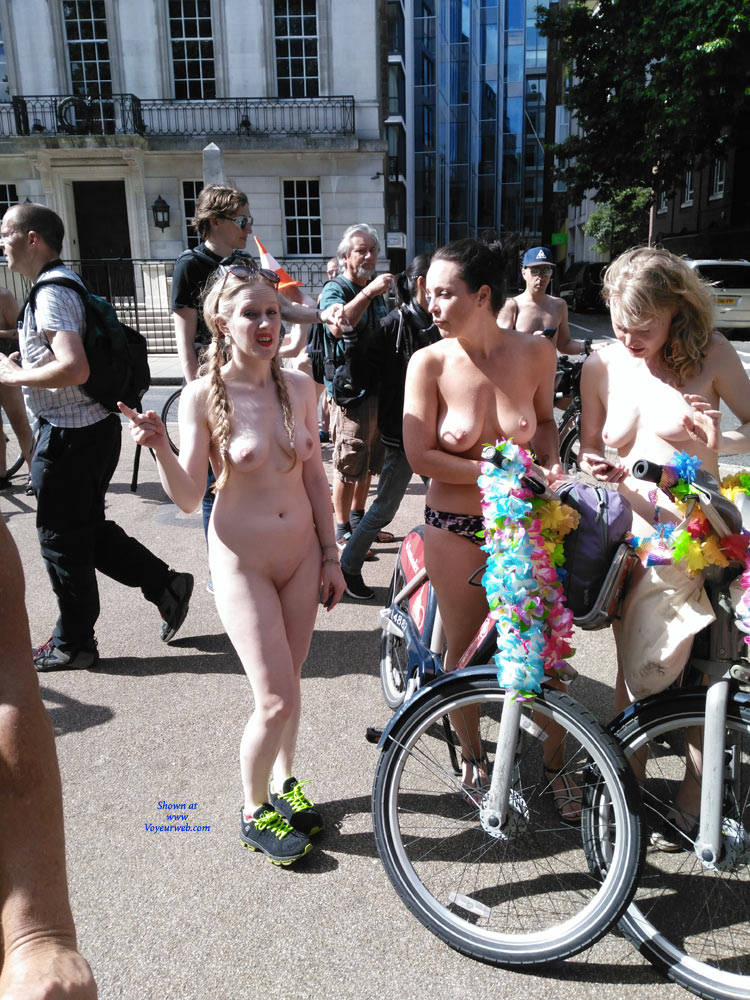 Pic #7 London Naked Bike Ride 2017 Part Two - Nude Girls, Big Tits, Outdoors, Public Place, Shaved