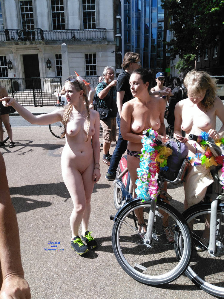 Pic #8 London Naked Bike Ride 2017 Part Two - Nude Girls, Big Tits, Outdoors, Public Place, Shaved