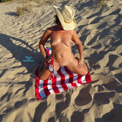 Naked On Flag And Sand - Big Tits, Brunette Hair, Exposed In Public, Firm Tits, Full Nude, Nude Beach, Nude In Public, Nude Outdoors, Perfect Tits, Shaved Pussy, Showing Tits, Beach Pussy, Beach Tits, Beach Voyeur, Hot Girl, Naked Girl, Sexy Body, Sexy Boobs, Sexy Face, Sexy Figure, Sexy Girl, Sexy Legs, Sexy Woman