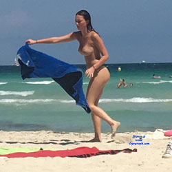 Mallorca Beach  - Topless Girls, Big Tits, Brunette, Outdoors, Beach Voyeur
