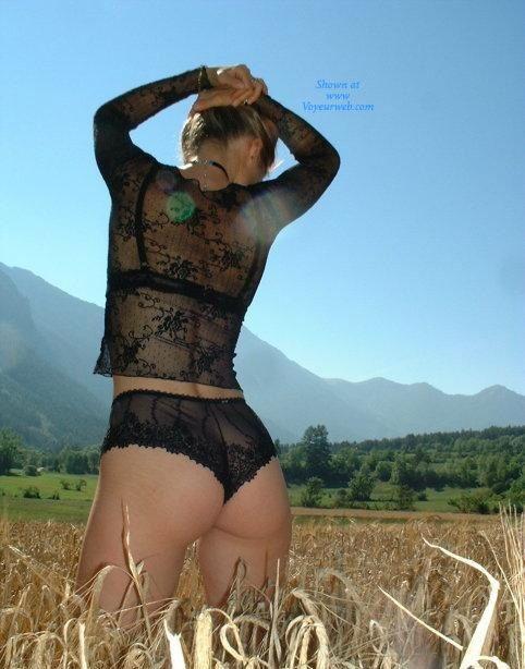 Pic #4 - Sandi al Campo - Lingerie, Blonde, Latina, Nature, Outdoors, Big Ass