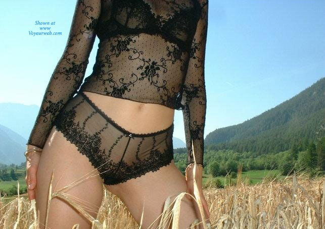 Pic #10 - Sandi al Campo - Lingerie, Blonde, Latina, Nature, Outdoors, Big Ass