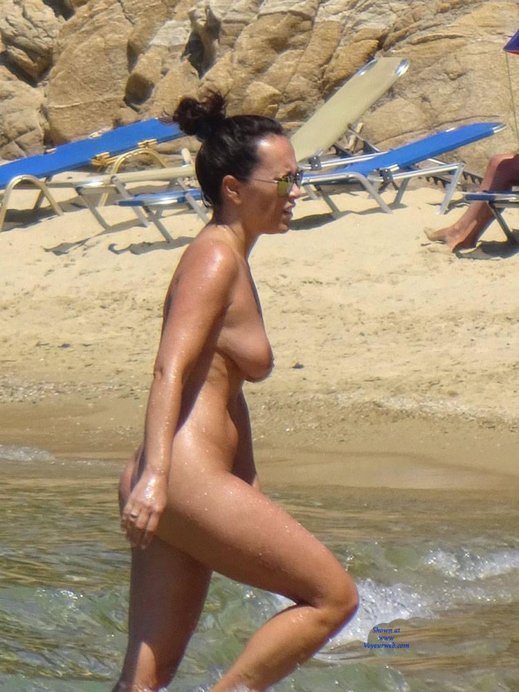 Pic #4 My Naturist Holidays Past Years - Nude Girls, Big Tits, Outdoors, Bush Or Hairy, Beach Voyeur