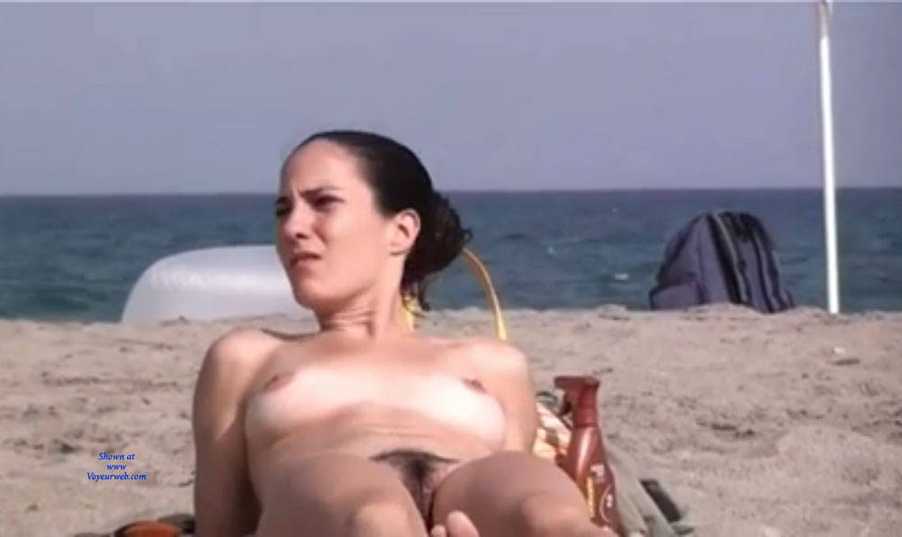 Pic #3 Here And There - Nude Girls, Big Tits, Brunette, Outdoors, Beach Voyeur