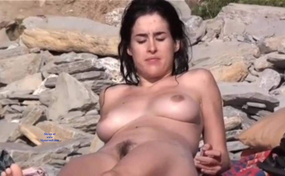 Pic #4 Here And There - Nude Girls, Big Tits, Brunette, Outdoors, Beach Voyeur