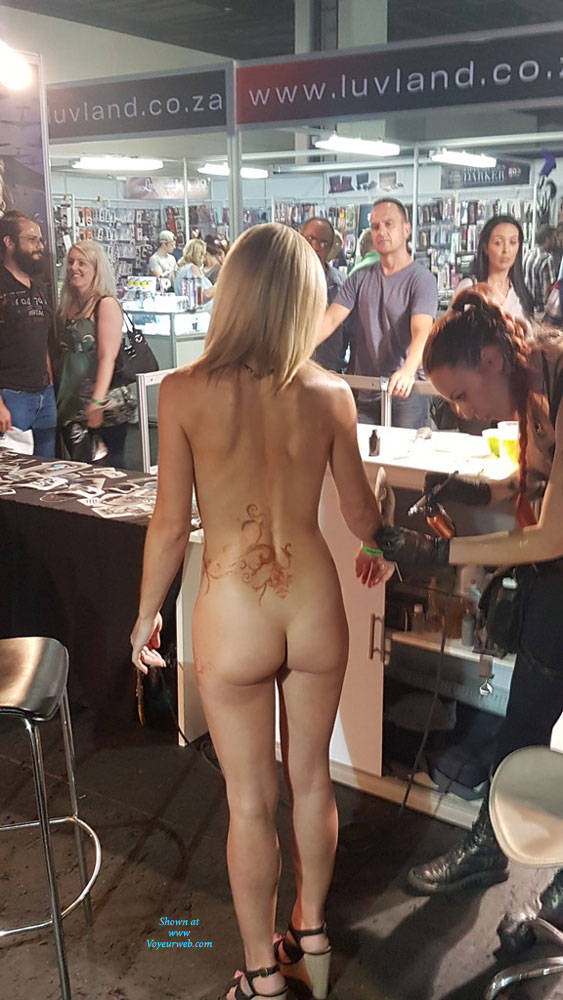 Pic #5 Sexpo JHB 2017 - Nude Girls, Blonde, Public Exhibitionist, Flashing, Public Place, Shaved